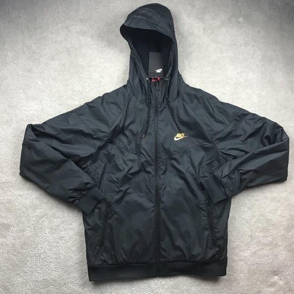 fdb579780ffe Nike Winterized Windrunner Black Gold Jacket